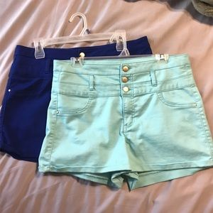 size 14 refuge brand shorts royal and light blue!